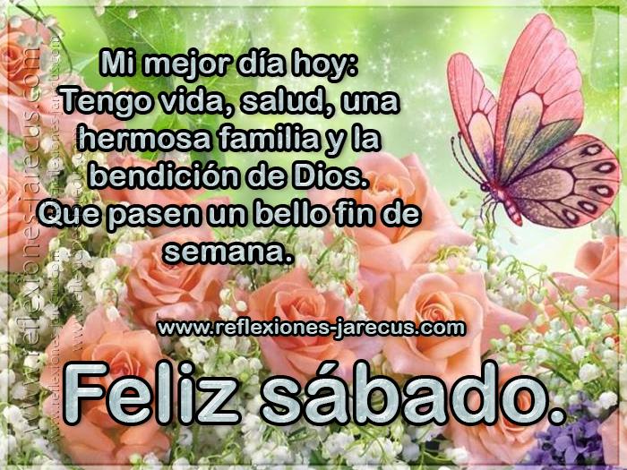 Mi mejor día hoy: Tengo vida, salud, una hermosa familia y la bendición de Dios. Que pasen un bello fin de semana.