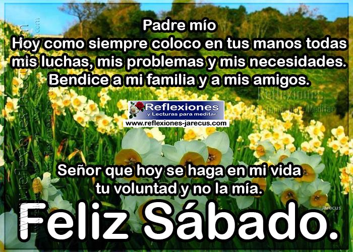 Feliz sábado, Padre Mio, Hoy como siempre coloco en tus manos todas mis luchas, mis problemas y mis necesidades. Bendice a mi familia y a mis amigos.