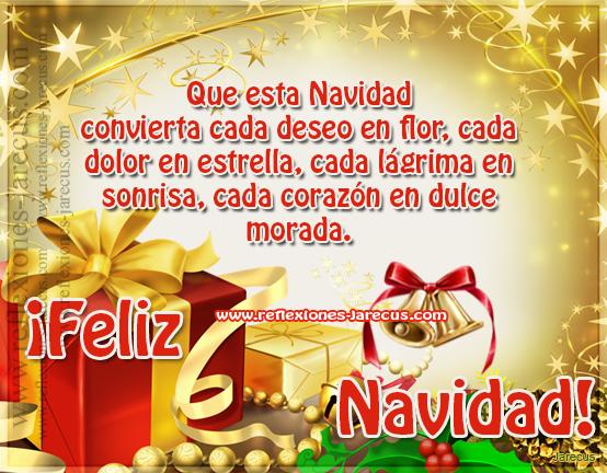 Que esta navidad convierta cada deseo en flor - Deseos de feliz navidad ...