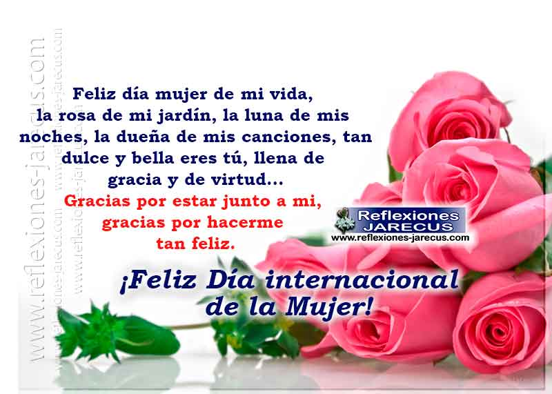 Feliz Día Mujer De Mi Vida Día Internacional De La Mujer